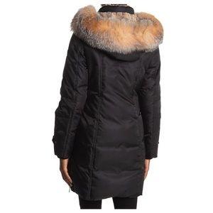 1 Madison genuine fox fur hooded jacket